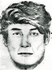 State police released this sketch of a man sought in connection with the death of Bessie P. Williams in 1983.