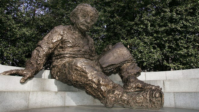 The Albert Einstein Memorial at The National Academy of Sciences headquarters in Washington, D.C., in February 2005 photo.