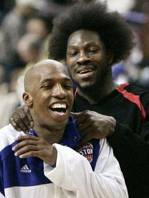 Ben Wallace and Chauncey Billups, two of the anchors of the 2004 NBA championship team, will have their numbers retired and jerseys lifted to the rafters at The Palace.