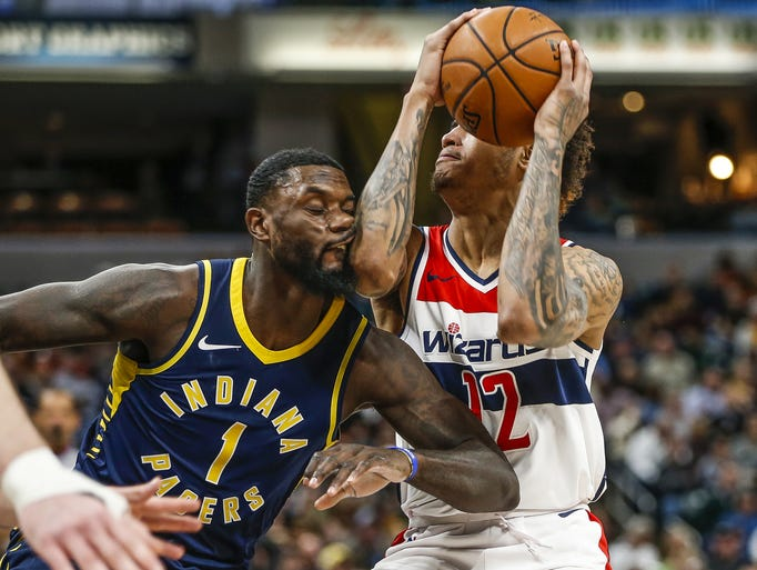 Indiana Pacers guard Lance Stephenson (1) takes an