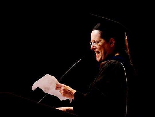 English professor Marilyn Kallet presents a reading
