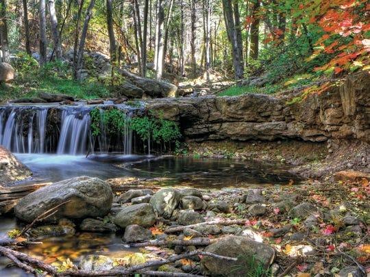Horton Creek drops in a series of cascades through