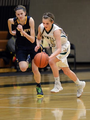 Howell's Alexis Miller (right) has emerged into Livingston County's most prolific scorer in 2017.