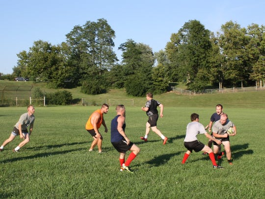 The Northern Kentucky Grubs Rugby Football Club practices Thursdays at 5:30 p.m. at Donald Cline Elementary in Cold Spring.