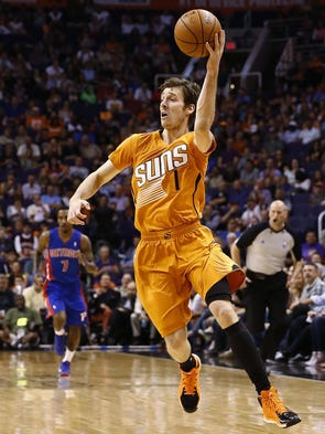 Phoenix Suns' Goran Dragic against the Detroit Pistons on Friday, Mar. 21, 2014 at US Airways Center in Phoenix.