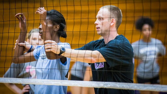 FILE -- Randy Gardner coached Munciana Volleyball's Ninjas to a third-place finish in the 16 Open division at the 46th AAU Girls' Junior National Volleyball Championships.