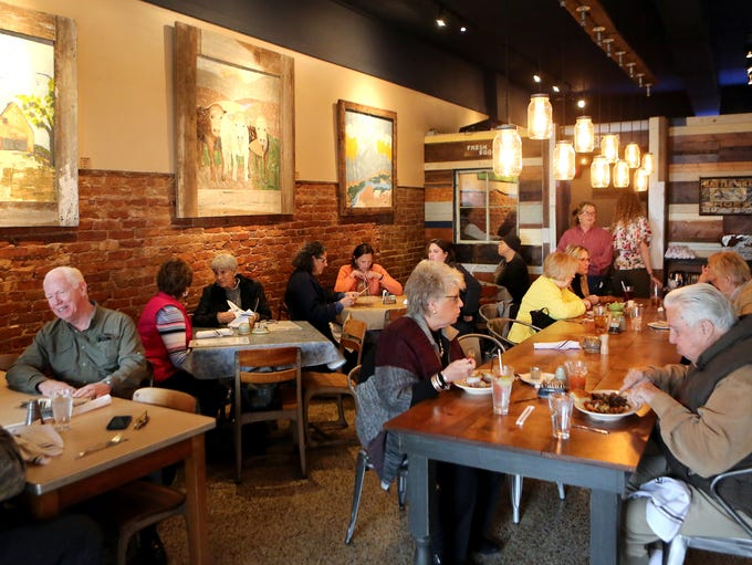 March 16, 2017 - Diners enjoy lunch at Pharm2Fork located