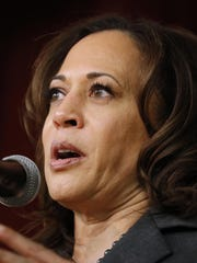 "Kamala Harris told reporters in Iowa on Sunday that ""we have to all acknowledge that people have not started out on the same base and have not had equal opportunities to success."""