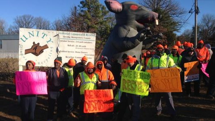 Some garbage truck drivers go on strike in Montgomery