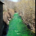 Spanish river turns bright green, alarming residents