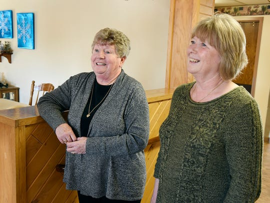 Kathy Rausch, former manager of imaging and lab, and her sister Roxie Ostendorf, former director of nursing at CentraCare Health-Long Prairie,  talk about their recent retirement Sunday, Dec. 27 in Long Prairie. The sisters plan to still do volunteer work at the facility in their retirement.