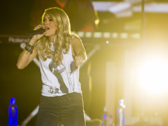 Carrie Underwood performs at the Big Barrel Country Music Festival in Dover last year.