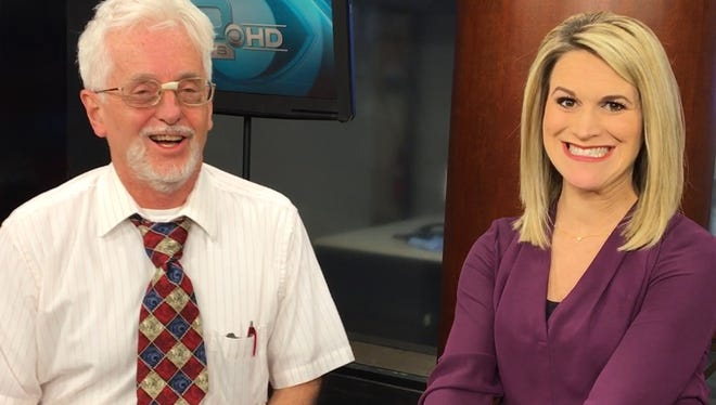 This video will make its debut at Answer Man Live! The moment when KOLR-10's Heather Lewis realizes that Steve Pokin needs to see a TV personality coach.