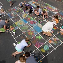 Creative kids and their parents will love this free chalk-art festival