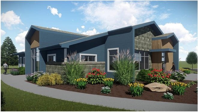 Rendering of the upcoming Creekside Performance Center. Construction of the Center begins in April