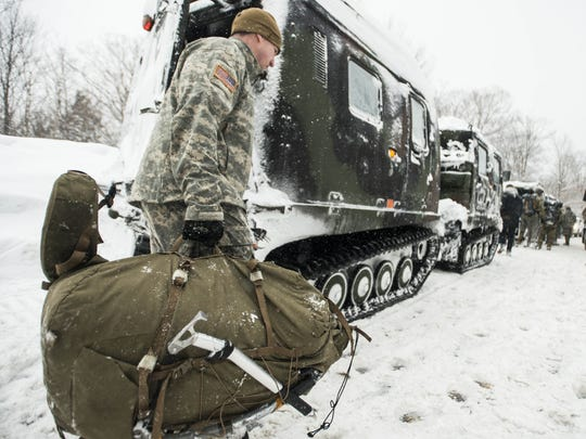 Vermont National Guard soldiers on a training exercise