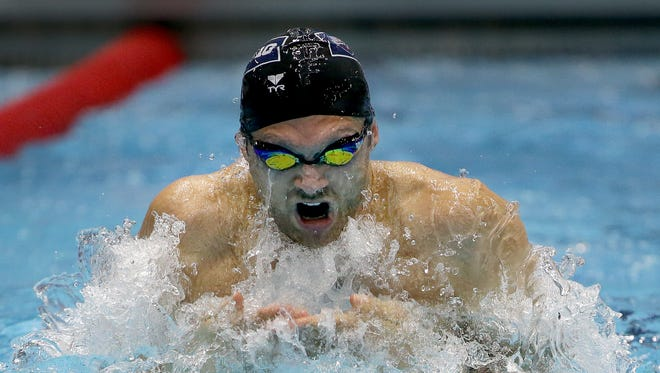 Cody Miller during the Men's 100 yard breaststroke during the 2016 USA College Challenge Sunday, November 13, 2016, afternoon at the IU Natatorium on the campus of IUPUI.