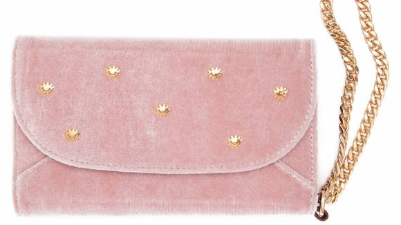 This cute little clutch can hold your phone and credit cards.