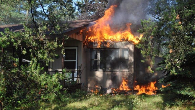 A fire caused by lightening Monday morning did significant damage to a Rome residence.