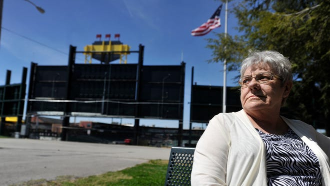 Bonnie Eckenrode has lived at her North Queen Street home for more than 50 years, and has had to make adjustments since the York Revolution came to town 10 years ago. Her husband was excited about the building of the stadium, but he passed away just before the ballpark opened.