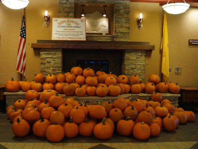 Pumpkins for the children at the Ruidoso Oktoberfest