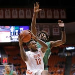 UTEP's Terry Winn goes up for a shot against the University of North Texas recently at the Don Haskins Center.