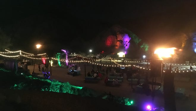 The outdoor event space at Desert Adventures Red Jeep Tours & Events in the Indio Hills accommodates everything from corporate meetings to birthday parties.