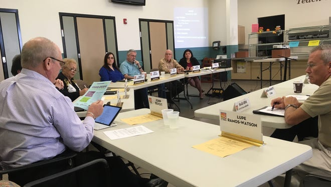 A Coachella Valley Association of Governments Homelessness Committee meeting at Roy's Desert Resource Center. The committee discussed how the facility will work through changes to its programming, such as providing mental health services.