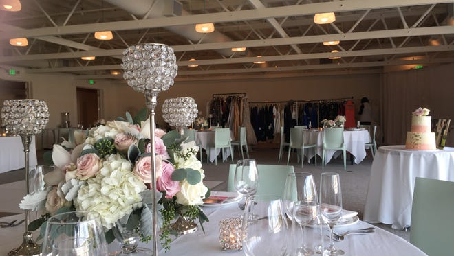 Newly remodeled banquet space at The Saguaro Palm Springs was outfitted for  the Bohimi Wedding Salon on Saturday, an event to introduce the space to would-be brides and others.