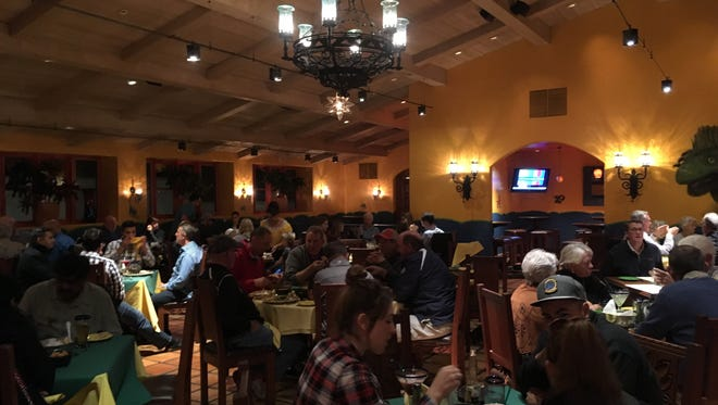 The scene at Adobe Grill, a Mexican restaurant at La Quinta Resort & Club, on a recent Thursday evening in early February.