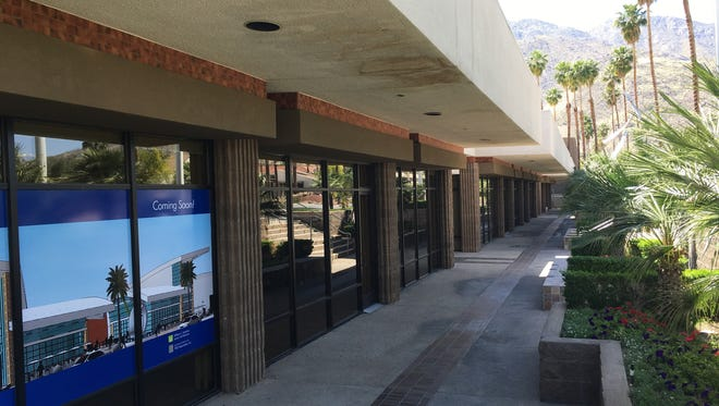 The Courtyard at Palm Springs is a largely vacant 20,400-square-foot commercial space next to the Regal Cinema on Tahquitz Canyon Way. The building's owner has proposed demolishing the buildings to make way for new development.