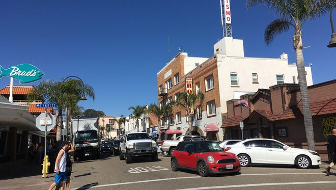 Downtown Pismo Beach, Calif. is only steps away from the Pacific Ocean.