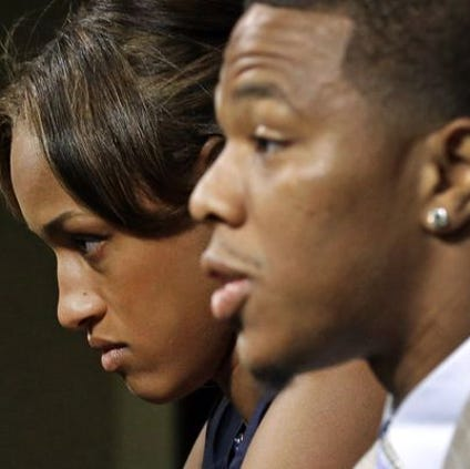 Janay and Ray Rice talk about the video that showed him knocking her out in an elevator.