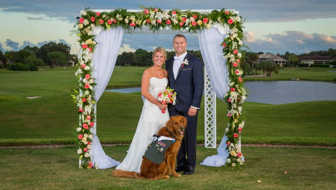 On Saturday, Justin Lansford married his long-time girlfriend, Carol Balmes, in Largo, Fla., and Gabe was by his side throughout the ceremony, according to Brad Hall, who photographed the ceremony.