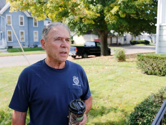 Joe Mastronardi outside his home on Howard Avenue on the East Side of Binghamton on Tuesday, September 26, 2017. Mastronardi has owned a home on Howard Avenue since 1974 which experienced minimal flooding in the basement during the flood of 2011.