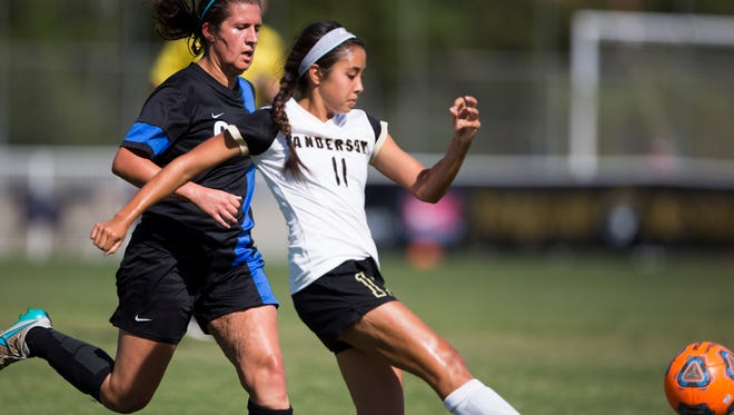 Anderson University senior Alaina Gay is second on the team with four goals.