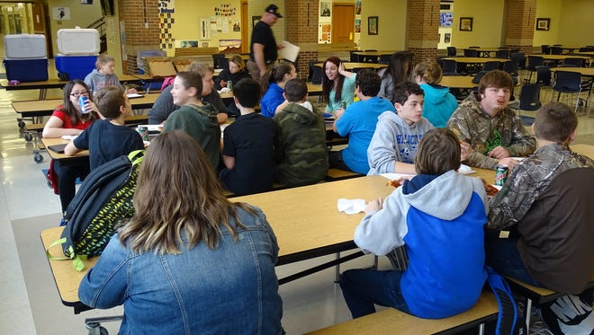 Students who were on the bus the day of the incident were rewarded with a pizza party at school Thursday afternoon.