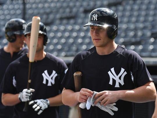 New York Yankees infielder Brandon Drury (29) during