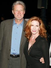 Actors Melissa Gilbert and Bruce Boxleitner arrive