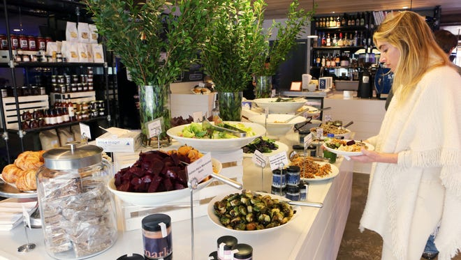 Market North in Armonk had a groaning board of salads and side dishes.