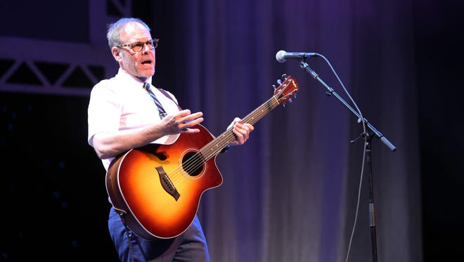 Alton Brown made time to sample local eats while in town Sunday for his Eat Your Science Tour at the Weidner Center.