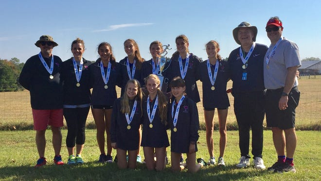 Riverside's girls won the Class AAAAA cross country state championship, the Warriors' fifth title in a row.