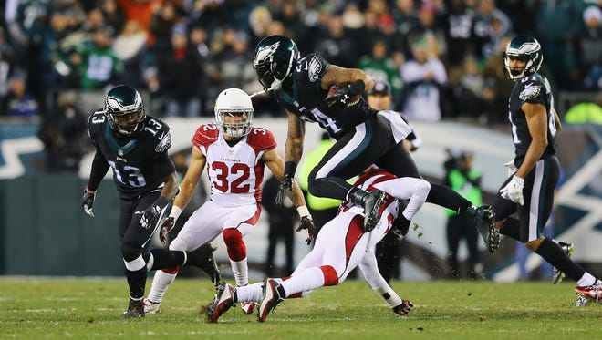 Tyrann Mathieu and the Cardinals take on the Eagles on Dec. 20, 2015 in Philadelphia.