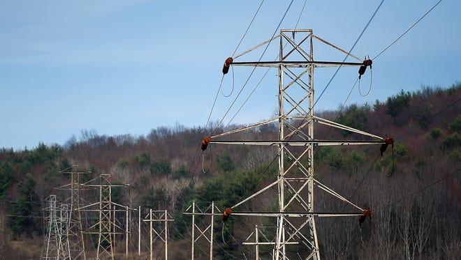 Power lines near Glenwood Road in Vestal. May 2, 2018.