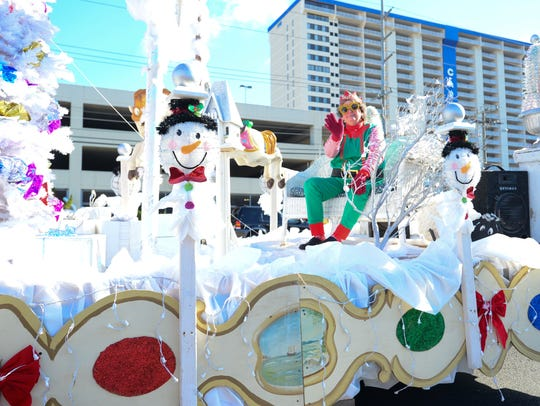 Trimpers' float during the 34th Annual Christmas parade