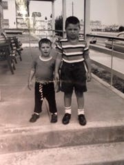 Glen Carullo (right) and Jesse Carullo in childhood.