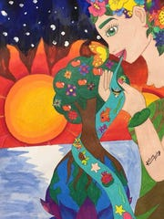 South Park TAPP student Kaleena Kustes won the River Sweep Poster Contest for the 12th grade division.