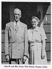 John Franz and his wife, years after he was kidnapped and hauled to Glendive for trial as a suspected seditionist.