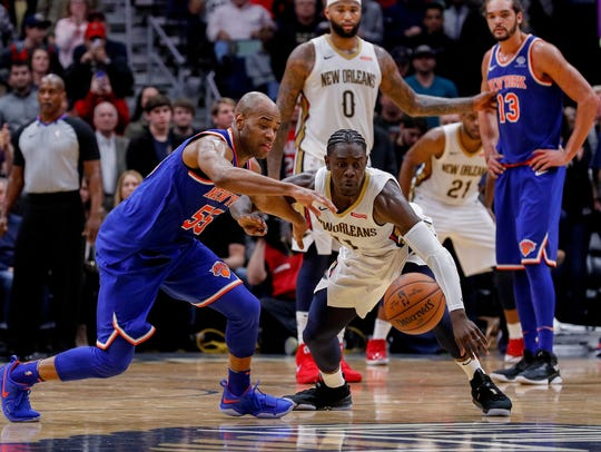 Dec 30, 2017; New Orleans, LA, USA; New York Knicks