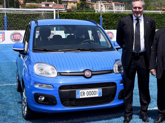 COO FCA Alfredo Altavilla attends the reveal of the Fiat Panda Azzurri on May 26, 2016 in Florence, Italy.